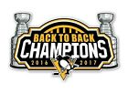 """Pittsburgh Penguins """" Back to Back Champions 2016-2017 """" Sticker Hockey Die cut $6.48 USD on eBay"""