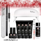 MEET ACROSS Poly Nail Extension Gel Kits w/ 6W USB LED Lamp French Builder Tips