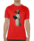 Bride Girl With A Gasmask Cold War Themed Crew Neck Men's T Shirt