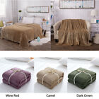 Soft Cozy Fleece Flannel Throw Blanket Cover for Bed Sofa Chair Warm Blankets