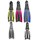 Swimming training diving fins free diving snorkeling assist diving long fins
