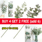 Artificial Fake Leaf Eucalyptus Green Plant Silk Flowers Nordic Home Decor Uk Th