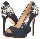 Badgley Mischka MARCIA Brocade Pump Crystal Jeweled Heel Midnight 7 $265