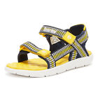 Timberland Perkins Row Webbing 2-Strap Toddlers Navy / Yellow Sandals