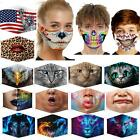 3d Unisex Print Funny Face Mask Protective Washable Printed Adult Party 2020