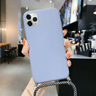 Case For iPhone 11 Pro Max Xs XR 8 7 SE 2nd Liquid Silicone Lanyard Soft Cover