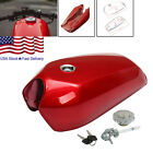 US STOCK 9L/2.4 Gallon Universal Bikes Cafe Vintage Fuel Gas Tank w/ Cap Switch