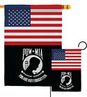US POW/MIA Garden Flag Armed Forces Service Decorative Gift Yard House Banner