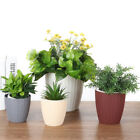 Water Balcony Garden Bonsai Flower Pot Imitation Rattan Plastic Plant Container