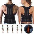 adjustable back shoulder posture corrector brace support magnetic belt adult ns