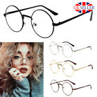 oval round glasses metal fashion frame clear lens vintage retro geek sunglasses