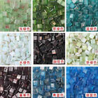 17 Colors 260pcs Square Vitreous Glass Mosaic Tiles For DIY Wall Art Hand Craft