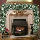 9ft christmas garland pre lit with lights fairy pine xmas fireplace decorations