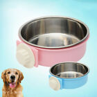EY_ EE_ AM_ LC_ Stainless Steel Hanging Feeding Bowl fixed Food Water Pet Cat Do