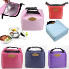 Women Men Cooler Insulated Plain Picnic Lunch Bag Portable Box For Thermal Food