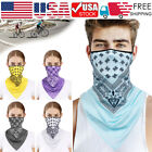 Balaclava Neck Tube Scarf Biker Fashion Face Cover Neck Gaiter Ear loop Headwear