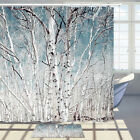"""Birch Forest In The Arctic Circle Shower Curtain Fresh  Simple Bath Fabric 71"""""""