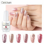 Gelcharm Smalto Semipermanente per Unghie in Gel UV LED Glitter Oro Rosa Gel