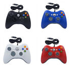 'Xbox 360 Slim E Wired Game Controller Pc Usb Gamepad Joystick White Red Blue Uk