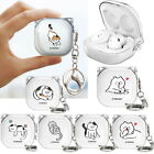 Cutie Cat Clear Hard Case Cover for Samsung Galaxy Buds Live
