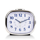 Bedside Alarm Clock Non Ticking Large Display Silent Sweep Desk With Night Light