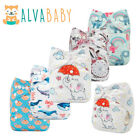 Kyпить ALVA Baby Cloth Nappies Printing Adjustable Reusable Pocket Diapers Cover 3-15KG на еВаy.соm