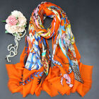 100 Cashmere Scarf Very Thin Shawl Tribal Style Feather Print Bandana 200 100cm