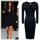 Womens Vintage Bodycon Stretch Summer Cube Evening Xmas Party Pencil Dress