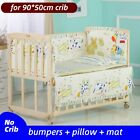 Baby Crib Bumper For Girl Boy Infant Bedding Set Pillow Cotton Mat Baby Supply