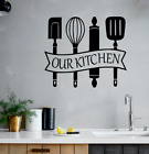 Our Kitchen Wall Sticker Cutlery Decal Stickers Vinyl Home Decor Art Utensil