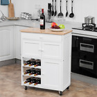 Modern Rolling Storage Kitchen Cart with Drawer
