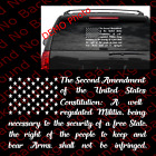 2A 2nd Amendment USA Constitution American Flag  Vinyl Decal US027A