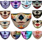 3d Printed Funny Face Mask Breathable Washable Mouth Protection Halloween Masks