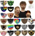 Halloween Skeleton Facemask Half Face Mouth Protective Mask Cover + 2pcs Filter