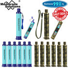 6 Pack Portable Survival Water Filter Straw Purifier Camping Emergency Gear Tool