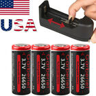 Garberiel 26650 Battery Li-ion 3.7v Rechargeable For Led Flashlight Torch Lot