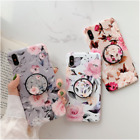 case for iphone 11 pro max xs max xr 7 8 plus se flower cover with holder socket