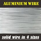 Best Grade Solid Uncoated Aluminium Wire, Craft, Jewellery, Bonsai, Electrical