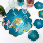 DIY Silicone Flower Coaster Pad Casting Mold Resin Making Mould Craft Tools New
