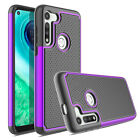 For Motorola Moto G Fast Case Hybrid Rugged Armor Cover / Glass Screen Protector