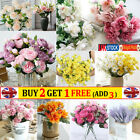 Real Touch Bouquet Artificial Silk Flowers Rose Wedding Home Party Garden Decor