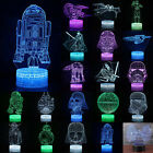 Star Wars Death 3D Night Lights LED Illusion Lamps Touch Switch 7 Colors Change
