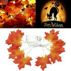 10/20/40 LED Maple Leaves Fall Garland String Light Decor Halloween T5J2