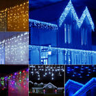 10-100FT LED Fairy Icicle Curtain Light Wedding Party Christmas Decor Waterproof