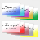 1-100 Pack of Thank You For Your Order Cards Postcards Notes Envelopes Shopping