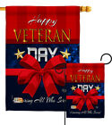 Happy Veteran Day Garden Flag Armed Forces Service Decorative Yard House Banner