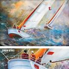 "36W""x24H"" SAILING THE WAVES by PIERRE LOMBARDI -OCEAN SAILBOAT CHOICES of CANVAS"