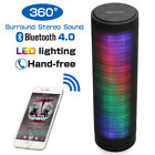 Portable Bluetooth Speaker Stereo LED Outdoor Sound FM Wireless USB