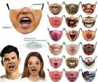 Mens Halloween Zombie Adjustable Face Mask Washable Reusable 5 Layer With Filter