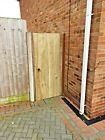 Wooden gate heavy duty FLAT TOP fully framed pressure treated solid garden gate